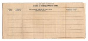 WWII Mileage Gas Rationing Record 1944 Allentown PA Civilian