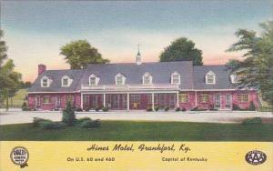 Kentucky Frankfort Hines Motel