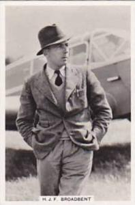 Pattreiouex Vintage Cigarette Card Flying 1938 No 23 H J F Broadbent