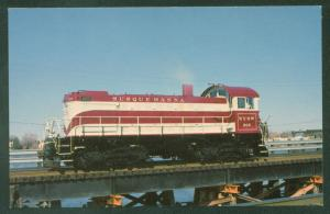 Susquehanna and Western New York Engine 206 Switcher Train Railroad Postcard