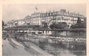 Switzerland Old Vintage Antique Post Card Vevey Hotel des E Couponnes Non Pos...