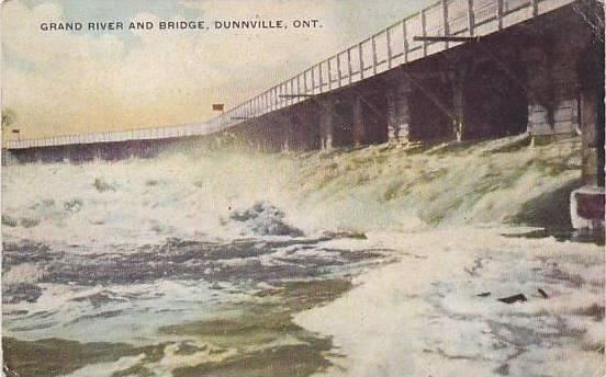 Grand River and Bridge,Dunnville,Ontario,Canada,PU-1910