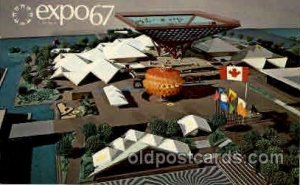 Montreal, Canada Exposition, 1967 expo67, Postcard Post Card Unused