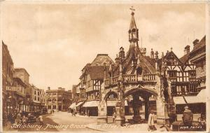 Salisbury Poultry Cross and Silver Street, Oliver's, auto car, animated street