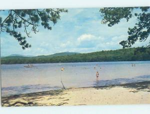 Pre-1980 BEACH SCENE Tamworth - Near Conway & Ossipee New Hampshire NH G5659