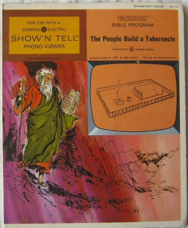 Vintage The People Build A Tabernacl Canon Bible Program For GE Show N Tell 1966