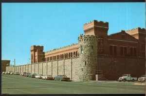 Montana DEER LODGE State Penitentiary built in 1870 - State Prison - Chrome