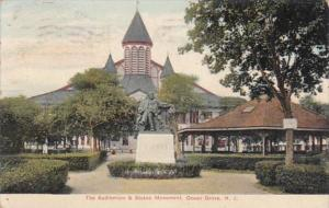 New Jersey Ocean Grove The Auditorium and Stokes Monument 1909