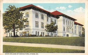 Athens Georgia State College of Agriculture Antique Postcard J64490