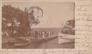 STEAMSHIP VALERIA AT WHARF SUGAR ISLAND, RHODE ISLAND POSTCARD 1906