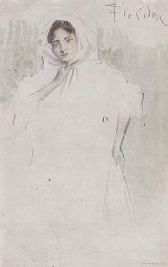 Spanish Lady Tarjeta Postal Artist Signed Painting WW1 Glamour Postcard