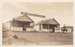 Maine Dixfield Marigold Cabins Real Photo RPPC