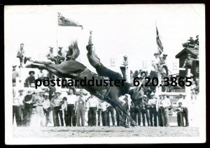 3865 - CALGARY Alberta 1950s Stampede. Rodeo. Real Photo Postcard