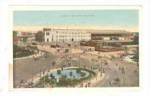 Aerial, Railway Station, Cairo, Egypt, Africa, pre-1907