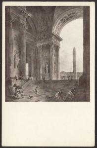 The Obelisk,Hubert Robert,Painting Postcard