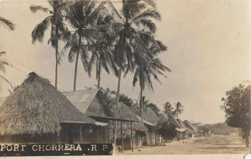 RP: PORT CHORRERA , Panama , 1900-10s ; Street