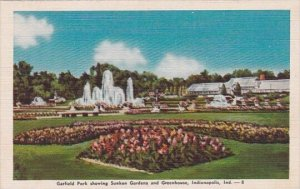 Garfield Park Showing Sunken Gardens And Greenhouse Indianapolis Indiana