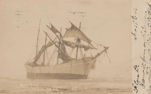 RP: CLATSOP BEACH , Oregon , 1906 ; Shipwreck of PETER TREDALE