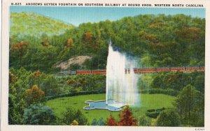 12340 Andrews Geyser Fountain on Southern Railway, Round Knob, North Carolina