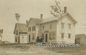 Real Photo, DB Littles Store New Harbor ME 1921