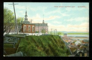 3234 - QUEBEC CITY 1910s View from Grand Battery East. Cannons/Guns
