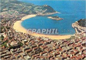 Postcard Modern San Sebastian View Aerienne
