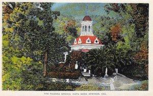 The Pagoda Spring, Napa Soda Springs, California ca 1920s Vintage Postcard