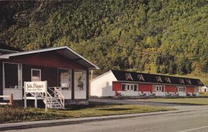 Exterior,  Motel Les Flots Bleus,  Route 6. Mont St-Pierre,  Gaspe Nord,   Qu...