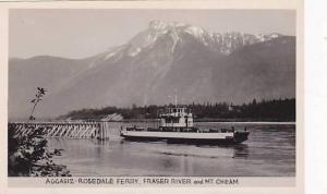 RP: Aggasiz-Rosedale ferry, Frasher River & Mt Cheam, B.C. , Canada , 30-40s