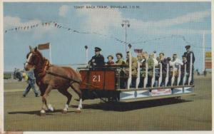 Douglas Isle Of Man Toast Rack Tram Transportation Postcard