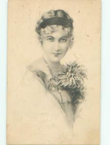 Divided-Back PRETTY WOMAN Risque Interest Postcard AA8675