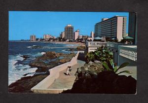 PR Condado Beach Hotel View San Juan Puerto Rico Postcard Carte Postale