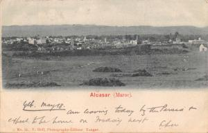 ALCASAR MOROCCO AFRICA~PANORAMA VIEW~V HELL #31 PHOTO POSTCARD 1903
