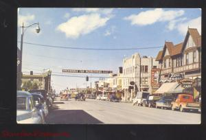 ANCHORAGE ALASKA DOWNTOWN FOURTH AVENUE STREET SCENE 1950's CARS POSTCARD