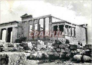 Postcard Modern Acropolis of Athens Greece Erechtheion