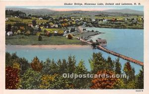 Old Vintage Shaker Post Card Bridge, Mascoma Lake Enfield and Lebanon, New Ha...