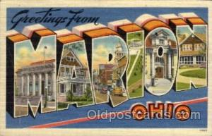Marion, Ohio Large Letter Town Towns Post Cards Postcards  Marion, Ohio USA