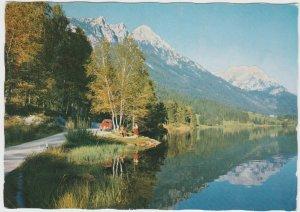 Austria Hintersteiner See lake Scheffau am Wilden Kaiser Tirol 1965 Postcard