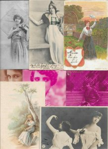 Victorian Style Women Vintage Postcard Lot of 20   01.17