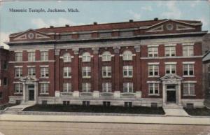 Michigan Jackson Masonic Temple Curteich