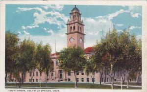 Court House, Colorado Springs, Colorado, 1910-1920s