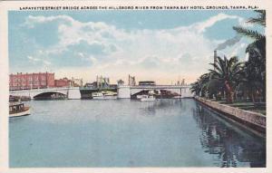 Florida Tampa Lafayette Street Bridge Across The Hillsboro River From Tampa B...