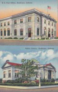 Indiana Anderson Post Office and Public Library Curteich