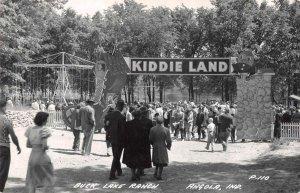 Angola Indiana Buck Lake Ranch Kiddie Land Real Photo Postcard AA41356