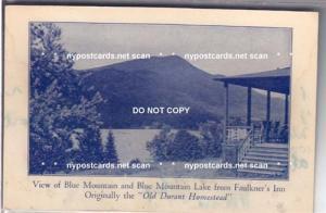 Blue Mountain Lake NY from Faulkner's Inn