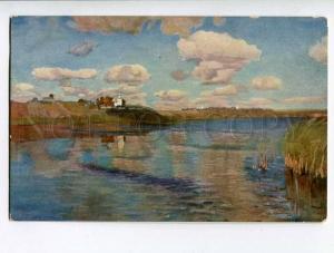 261156 Russia Levitan sunny day Vintage Richard postcard #1368