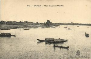 CPA VIETNAM Annam - HUÉ - Riviere et Marchés (62319)