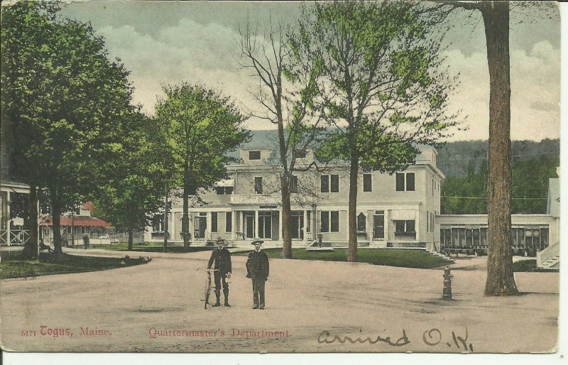 Togus, Maine, Quartermaster's Department