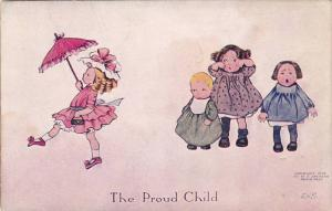 The Proud Child Arrogant girl walks away from crying toddlers, 10-20s