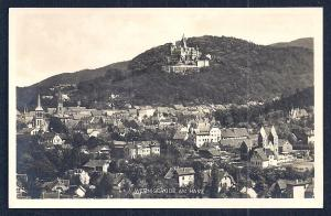 Wernigerode & Castle Harz Germany Real Photo unused c1920's